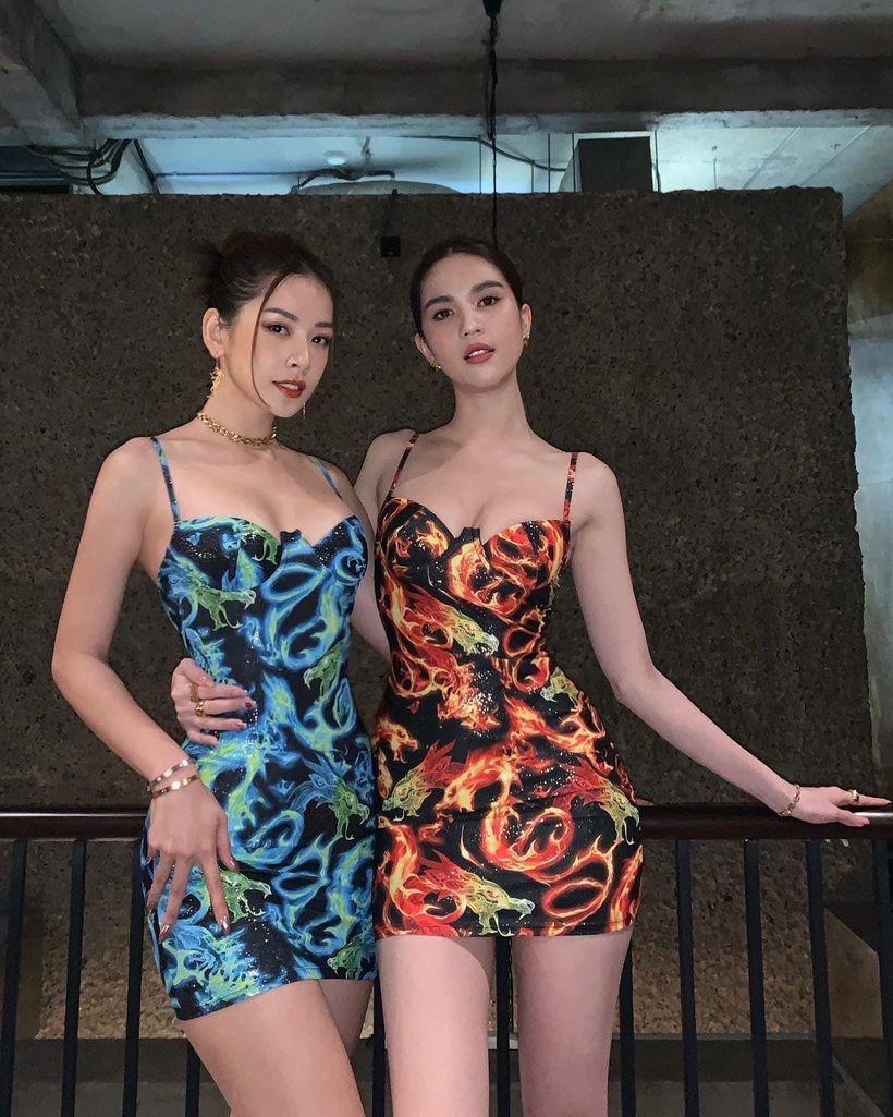 Ngọc Trinh và Chi Pu khoe trọn body nóng bỏng trong tiệc mừng đạt 5 triệu follow trên Instagram