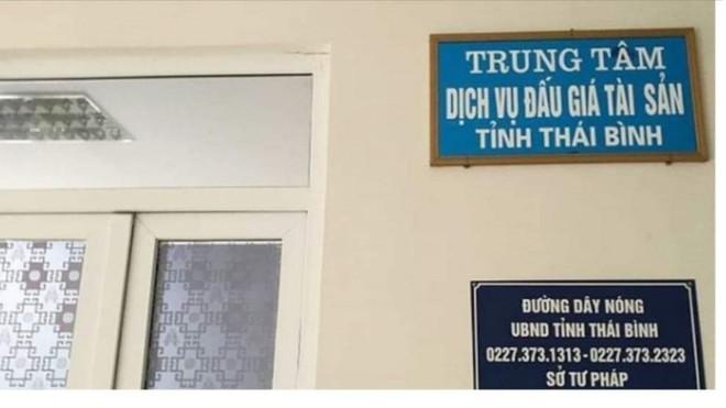 Nữ cán bộ của Trung tâm Dịch vụ đấu giá Thái Bình bị bắt về tội tham ô