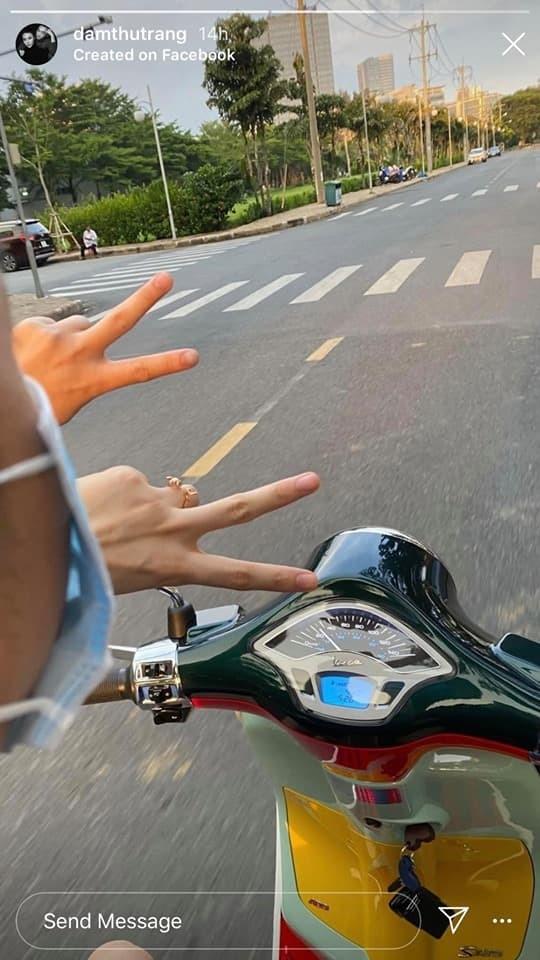 Đàm Thu Trang khoe ảnh 'trốn con' đi hẹn hò cùng ông xã Cường Đô La
