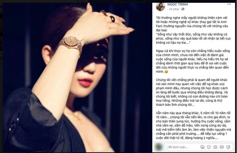 Ngọc Trinh lên tiếng đáp trả cộng đồng anti fan