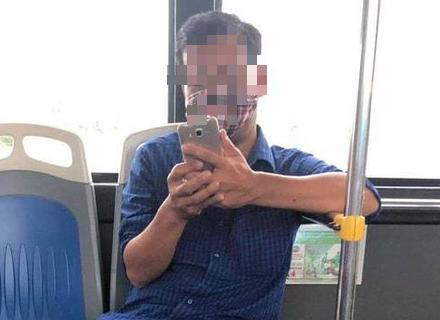 Mức phạt cho gã đàn ông nhổ nước bọt vào nữ nhân viên xe buýt