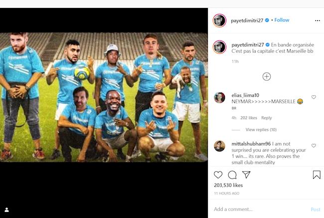 Tiền vệ Payet có hành động xúc phạm Neymar