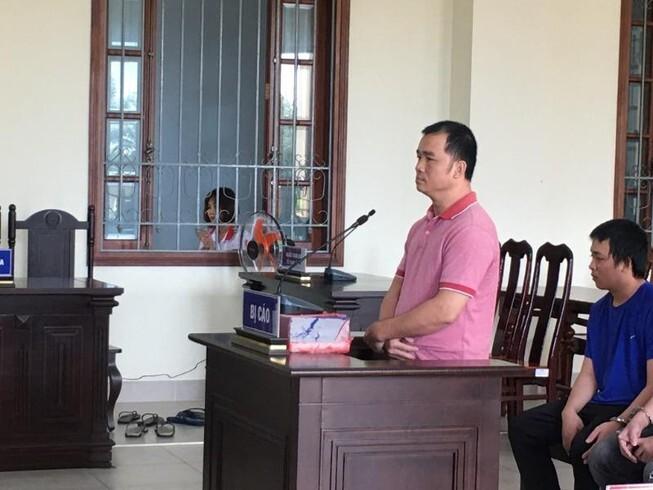 Bị cáo Tuấn tại tòa