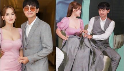 Sau tin đồn ly hôn, vợ chồng Tú Vi - Văn Anh xuất hiện tình tứ bên nhau