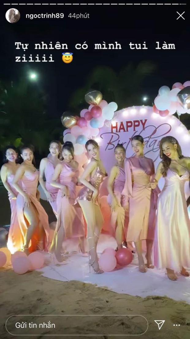 Tổ chức sinh nhật sớm, Ngọc Trinh khoe trọn body nóng bỏng