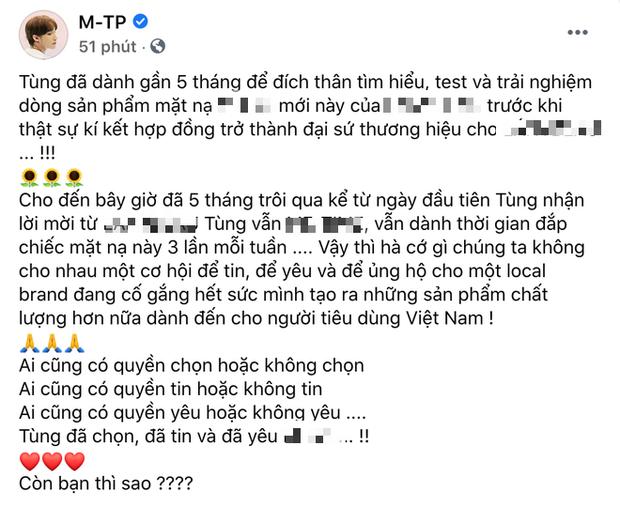 Sơn Tùng đã chính thức lên tiếng về lùm xùm PR cho hãng mỹ phẩm kém chất lượng