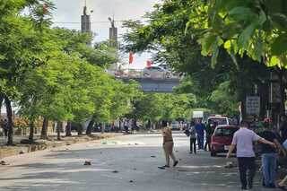 Nam Định: Ô tô tông trực diện xe máy, 2 vợ chồng tử vong tại chỗ