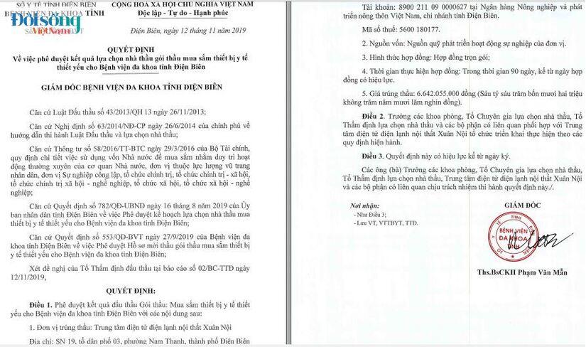 sai phạm Đầu tư công Bệnh viện Đa khoa tỉnh Điện Biên01