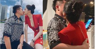 Matt Liu và Hương Giang 'khóa môi' ngọt ngào trên du thuyền