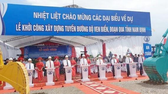 Bắt đầu xây dựng tuyến đường ven biển Nam Định trị giá 2.700 tỷ đồng