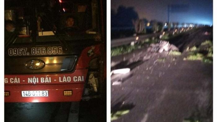 Tìm thân nhân của tài xế đi xe máy tử vong trên cao tốc Nội Bài - Lào Cai