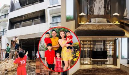 Nữ ca sĩ Hải Băng 'khoe' ảnh xây nhà mới hoành tráng