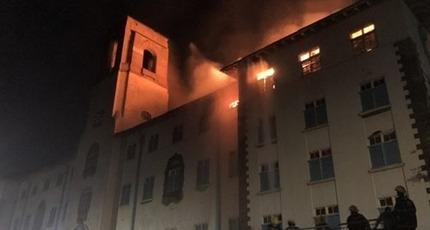 Cháy kinh hoàng tại trường đại học danh tiếng nhất Uganda
