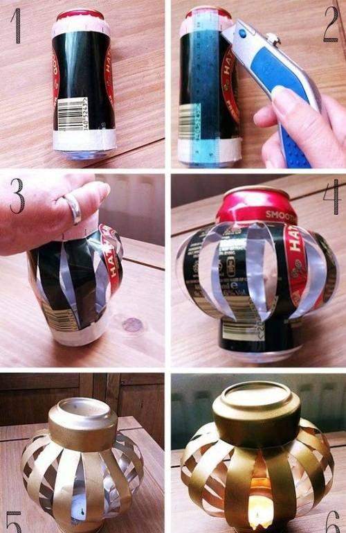 đèn lồng lon bia