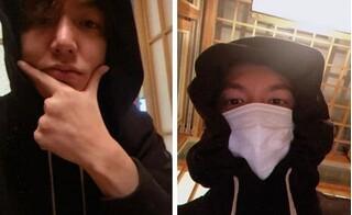 Lee Min Ho khiến fan cười ngất vì vừa đeo khẩu trang vừa uống bia