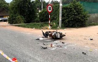 Xe tải tông xe máy, 3 người trong một gia đình thương vong