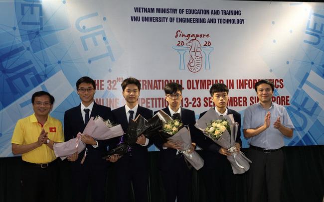 Việt Nam đoạt 4 huy chương Olympic Tin học quốc tế năm 2020