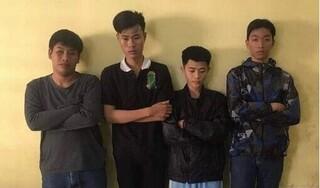 Bắt giữ 4 thanh niên quấy rối phụ nữ trong đêm bị camera ghi hình