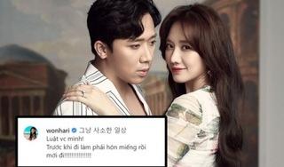 Hari Won khiến dân tình xuýt xoa khi hé lộ 'luật vợ chồng' với Trấn Thành