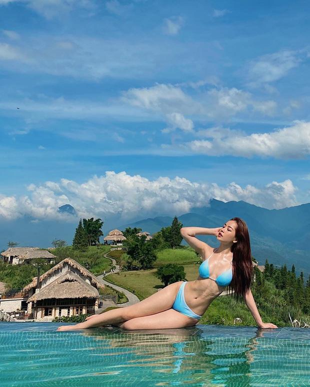 Chi Pu diện bikini phơi khoe body nóng bỏng, spotlight đổ dồn vào vòng eo con kiến