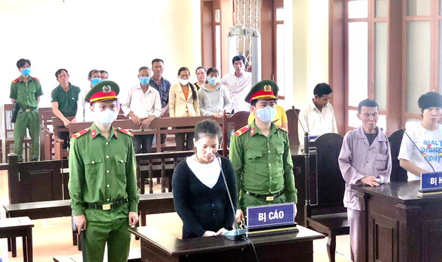 Bị cáo Nguyễn Thị Thanh Huyền.