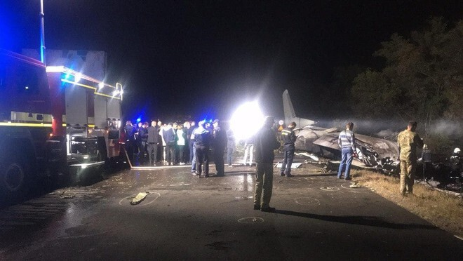 Rơi máy bay ở Ukraine, ít nhất 22 người thiệt mạng