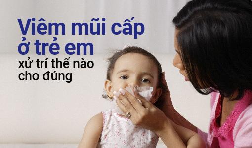 viêm mũi cấp ở trẻ em