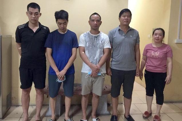 Nhóm nghi phạm liên quan vụ án