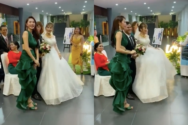 Đi diễn thấy đám cưới, Thủy Tiên dừng lại để chúc phúc