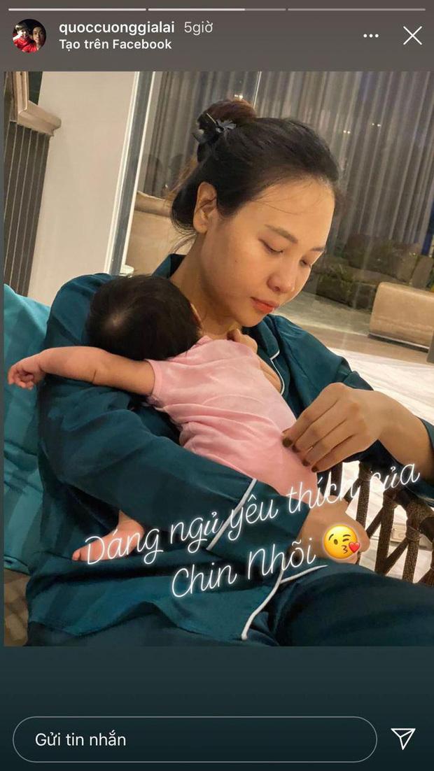Cường Đô La khoe khoảnh khắc Đàm Thu Trang chăm con gái