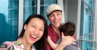 Hoàng Oanh tung clip hé lộ cuộc sống tại Singapore sau khi đoàn tụ chồng Tây