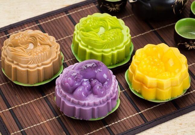 Bánh trung thu rau câu nhân flan đầy sắc màu cực lạ, cực ngon cho cả gia đình