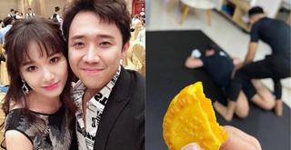 Hari Won khoe ảnh ăn bánh Trung thu còn Trấn Thành lại vật vã giảm cân