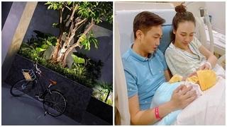 Cường Đô La sắm xe đạp cho Đàm Thu Trang đi chợ mua hoa quả
