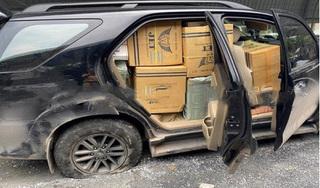 Ô tô chở thuốc lá lậu nổ lốp vẫn bỏ chạy sau khi gây tai nạn