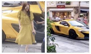 Hương Giang xuất hiện cùng siêu xe, nổi bật giữa phố