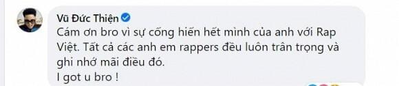 Bạn gái Karik lên tiếng bảo vệ Trấn Thành khi bị chỉ trích 'khóc lố' tại Rap Việt