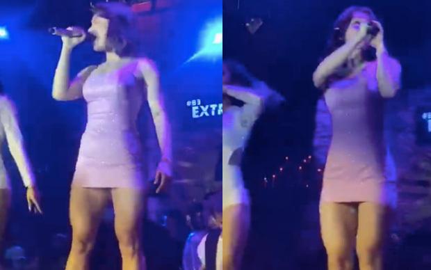 Diện váy ngắn bó sát diễn trong bar, Miu Lê bị antifan miệt thị khi lộ bắp đùi to