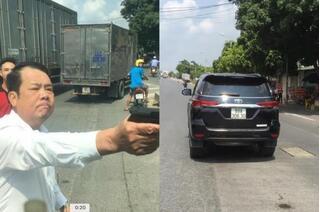 Truy tố giám đốc công ty bảo vệ dí súng dọa bắn tài xế xe tải