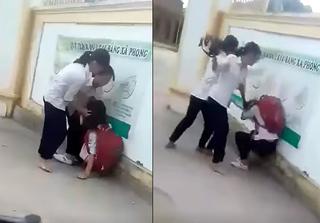 Nữ sinh lớp 8 bị đánh hội đồng trước cổng trường vì chê áo mỏng