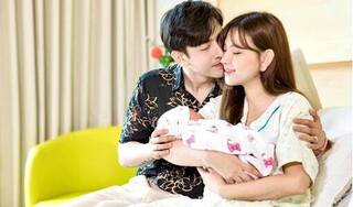 Thu Thủy khoe chồng kém 10 tuổi thức đêm chăm con gái mới sinh