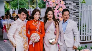 Đi đám hỏi cháu, vợ Lý Hải xinh đẹp lộng lẫy lấn át cả cô dâu