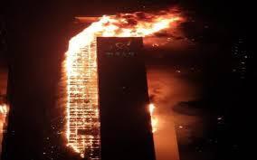 Tòa nhà 33 tầng ở Hàn Quốc cháy ngùn ngụt trong đêm