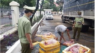 Bắt quả tang 300kg thịt lợn 'bốc mùi' trên đường vào Đắk Lắk tiêu thụ