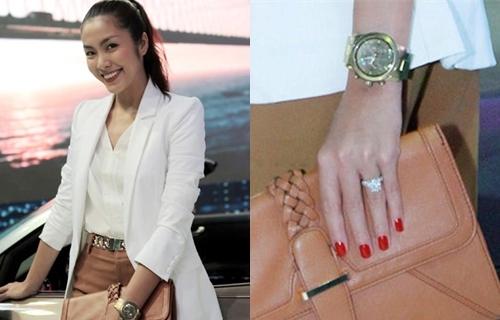 Fan trầm trồ khi hiếm hoi mới thấy Hà Tăng khoe nhẫn kim cương khủng