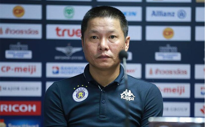 HLV Chu Đình Nghiêm hài lòng với chiến thắng trước TP.HCM