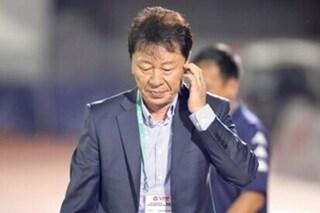 Vì sao HLV Chung Hae Seong bỏ họp báo sau trận đấu với Hà Nội FC?