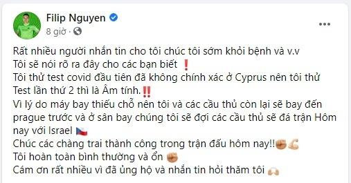 Filip Nguyễn phủ nhận  thông tin bị nhiễm Covid-19