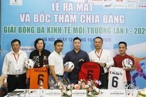 12 đội bóng mạnh tham dự Giải bóng đá Kinh tế Môi trường lần I-2020