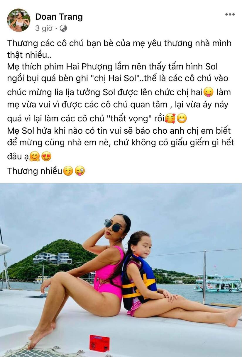 Đoan Trang lên tiếng phủ nhận mang thai lần 2